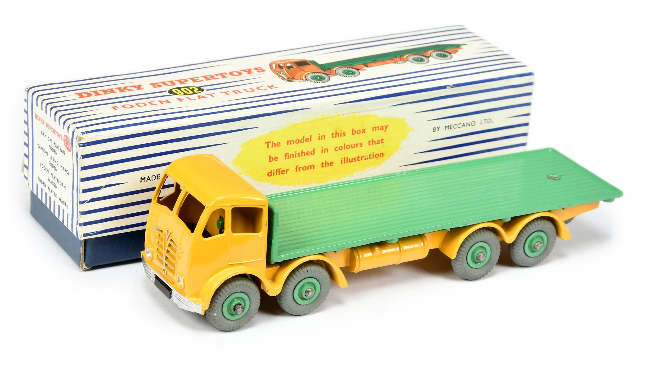 Dinky 902 Foden (2nd Type) Flat Truck yellow mid green16th January 2020 Lot 1374