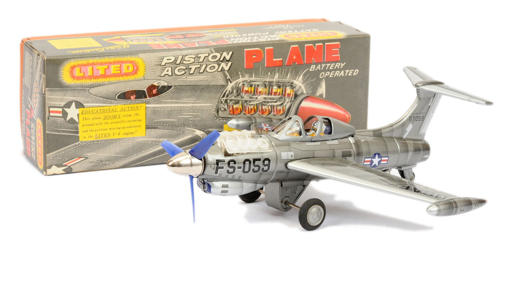 Nomura (TN Toys of Japan) Lited Piston Action Plane  15th January 2020 Lot 658