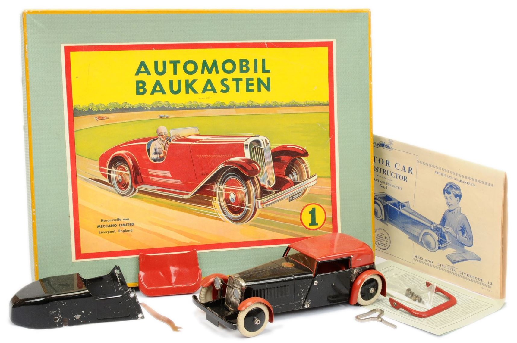 Meccano Constructor Car pre-war - made for the German market 15th January 2020 Lot 663